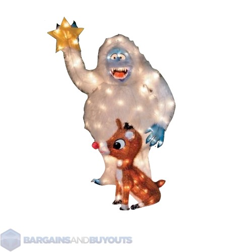 Rudolph bumble outdoor 2pc christmas decor 370533 ebay for Abominable snowman yard decoration