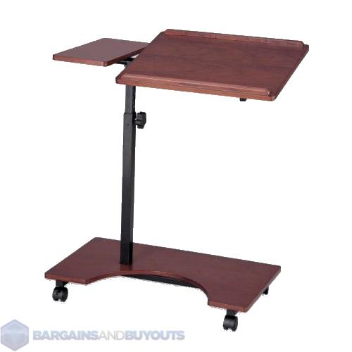 Wooden laptop stand reading table in dark cherry ebay