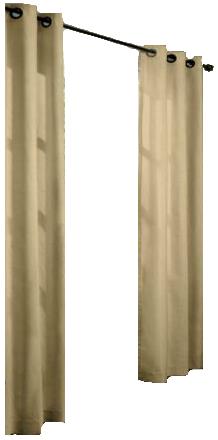 Grommet Top Insulated Curtain Pair Patio Door 80 X 84 Khaki Ebay