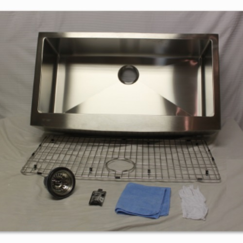 Hahn Notched Farmhouse Kitchen Sink: Hahn Chef Series Handmade Extra Large Single Farmhouse